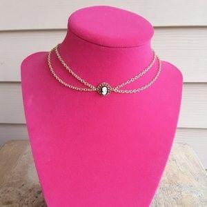 Handmade - ArtisanJewelryGifts Jewelry - Layered 16K Gold Victorian Lady Cameo Choker